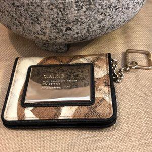 L.A.M.B. Wallet beige brown and black print